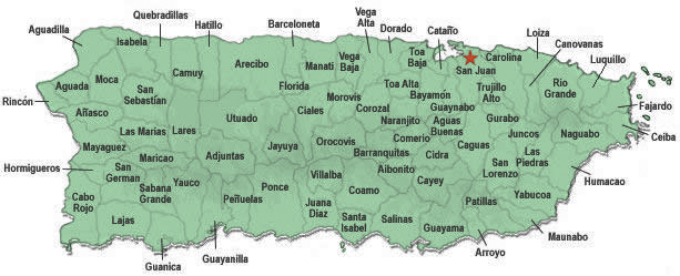 T PR Municipalities - Guaynabo map